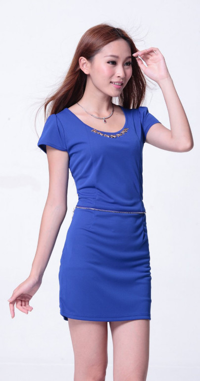 Irregular skirt hem long and short in front dress for women